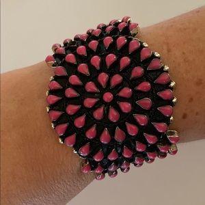 Vintage 925 Mexico Tear Drop Cuff Bracelet